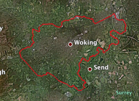 Google Earth - Woking